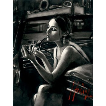 Other Artists Darya in the Car with Lipstick (Deluxe Edition) By Fabian Perez
