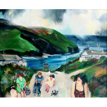 Gill Watkiss The Visitors, Portreath