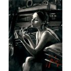 Darya in the Car with Lipstick (Deluxe Edition) By Fabian Perez